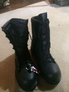 Leather police issue boots
