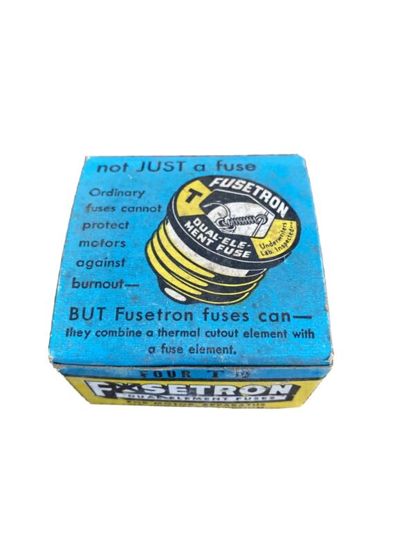 Box of 4 - Fusetron T10  Dual Element Fuses - New Old Stock