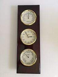 Howard Miller 625-249 Shore Station Rosewood Hall Weather Station Wall Clock
