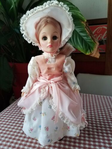 11 Summer Doll, EffanBee 1976 1176, Eff Bee, STORYBOOK Baby Blond Hat Blue Eyes - $8.99