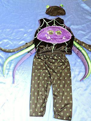 Halloween Scary Spider fancy dress up BNWT 3-4yrs Boys Kids Costume Googly Eyes! ()