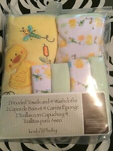 Koala baby towel and facecloth set