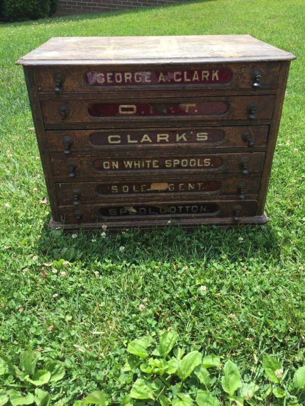 Antique Clark's Spool Cabinet
