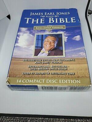 James Earl Jones Reads the Bible New Testament-KJV (2007, CD)