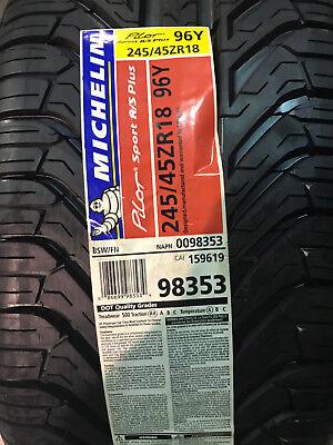 2 New 245 45 18 Michelin Pilot Sport A S Plus Tires