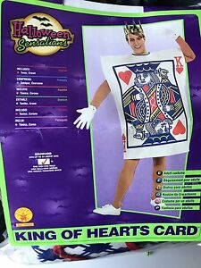 King of hearts holloween costume
