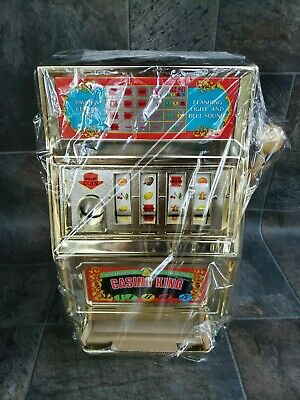WOW !! VINTAGE WACO CASINO KING TOY SLOT MACHINE. NEW. SEALED WITH...