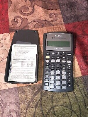 Texas Instruments BA ll Plus Calculator Adv. Business Analyst Financial WORKS
