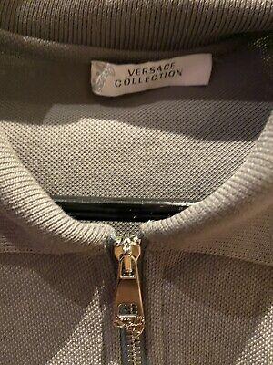 Versace Polo Shirt, Grey, XXL 2XL Extra Extra Large