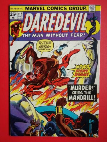 DAREDEVIL #112 BLACK WIDOW * MANDRILL (VF 8.0 or Better)MARVEL COMICS 1974