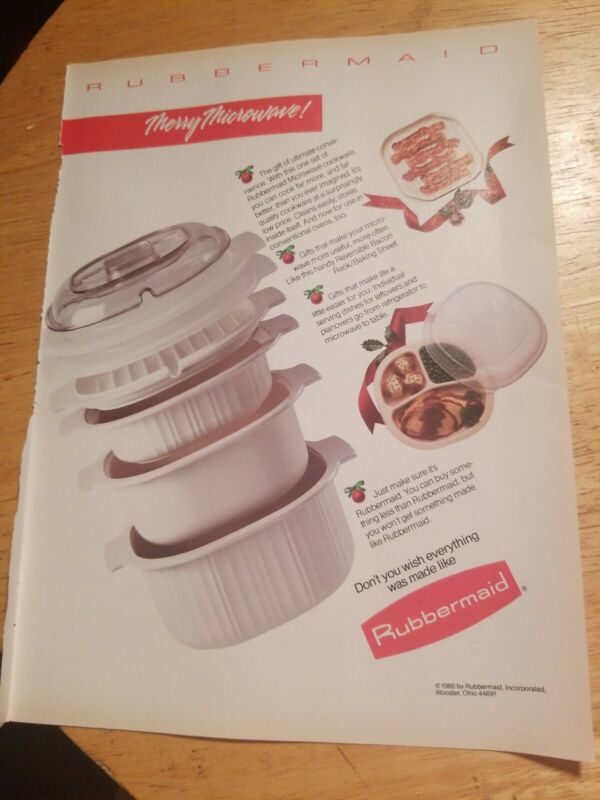 1985 print ad-Merry Microwave-Rubbermaid Microwave Cookware