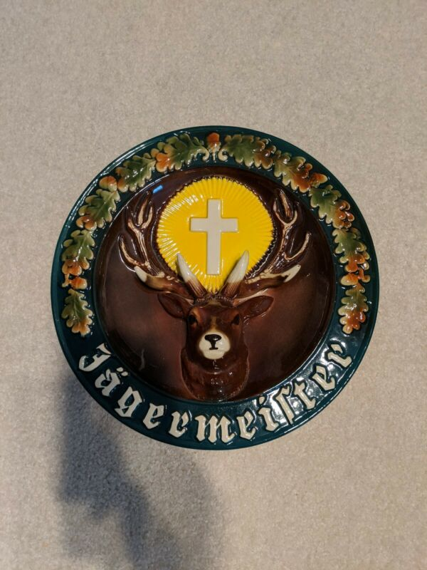 Jagermeister Stag Hand painted Wall Plate Ransbach Westerwald German Made