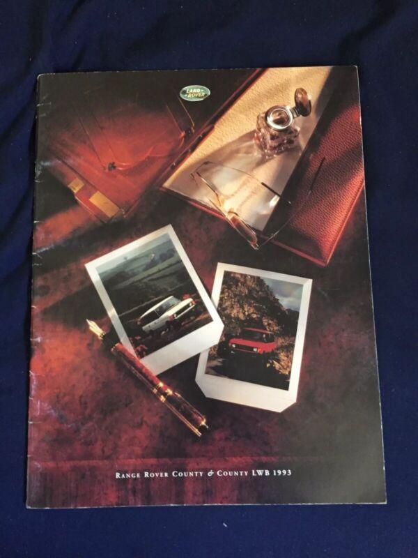 1993 Range Rover Country Full Range USA Market Color Brochure Catalog Prospekt