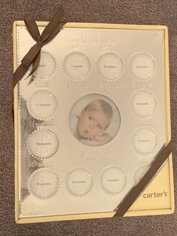 NEW Carters My First Year Baby Photo Collage Frame 13 Photos
