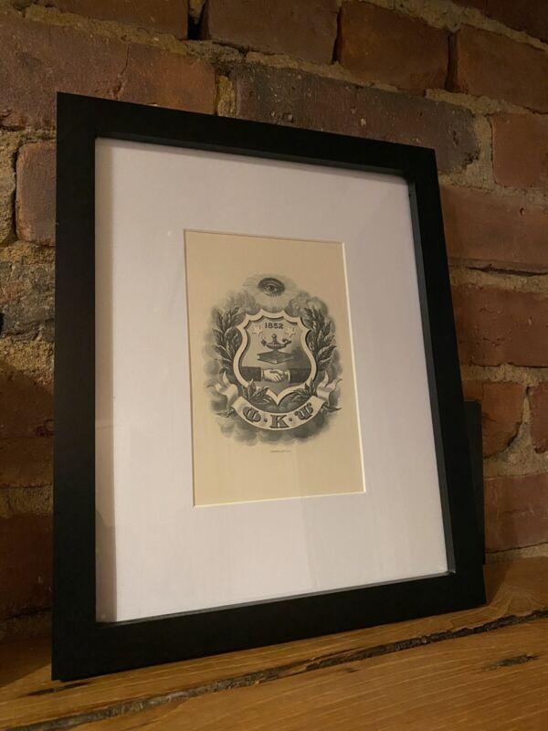 1889 Phi Kappa Psi (Phi Psi) Steel Engraved Print