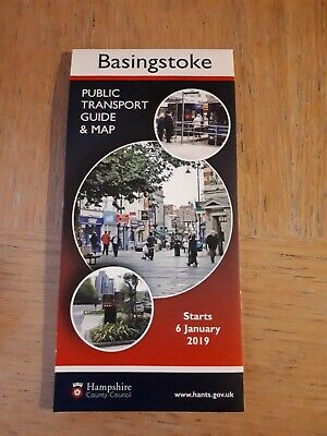 Basingstoke Public Transport Map and Guide January 2019 edition mint condition