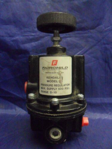 NICE FAIRCHILD KENDALL 10 PRESSURE REGULATOR MAX SUPPLY 500 P.S.I. RANGE 0-10