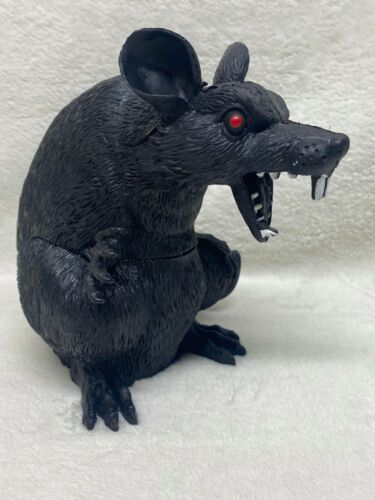 Halloween BIG BLACK RAT Standing Horror Monster Rodent Prop Decoration-7-in Tall