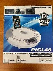 iPhone/iPod FM Radio Receiver w/ CD Player & Alarm Clock PICL48 & Adapter