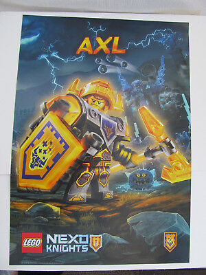 Lego Nexo Knights AXL poster banner paper sign  68cm x 48cm Double Sided NEW - Lego Banner