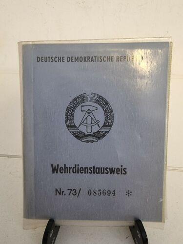 DDR GDR East Germany Wehrpass NVA National Volksarmee Service Card + Dog Tag