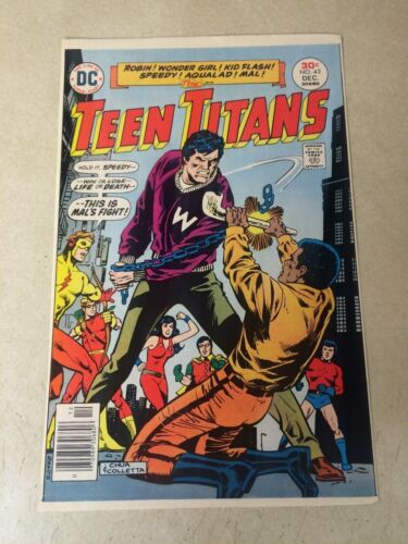 TEEN TITANS #45 COVER ART original cover proof 1976 KID FLASH SPEEDY AQUALAD