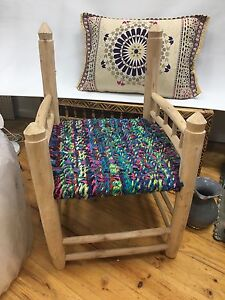 Moroccan woven chair missing back Brighton East Bayside Area Preview