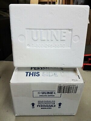 Uline Styrofoam Insulated Shipping Cooler And Box 8x6x4.5