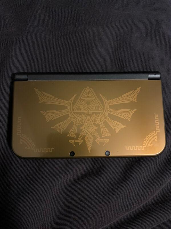Nintendo New Nintendo 3DS XL Zelda Hyrule Gold Limited Edition System — Tested