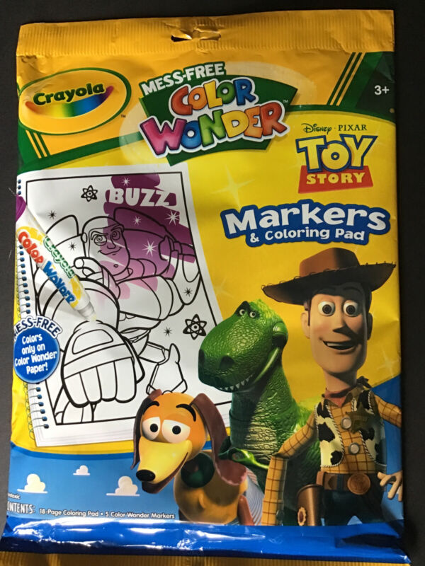 NEW Crayola Color Wonder Disney Pixar Toy Story 5 Markers & 18 page Coloring Pad