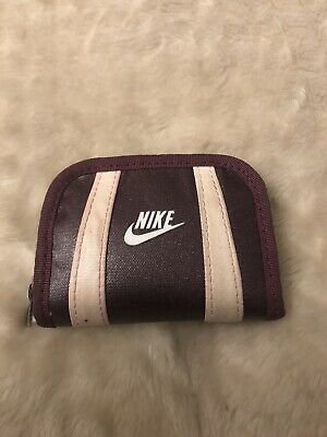 Nike Coin Purse, Zip Round, Deep Purple Women's