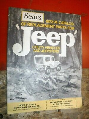 1973-74 SEARS REPLACEMENT PARTS JEEP UTILITY VEHIC