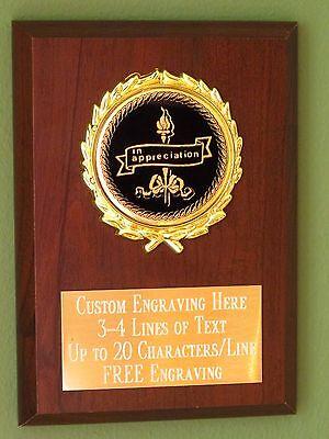 Appreciation Award Plaque 4x6 Trophy FREE engraving Appreciation Award Plaque