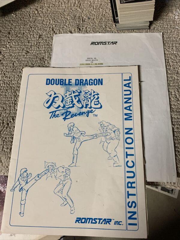 original Double Dragon II 2 Technos arcade Video game manual
