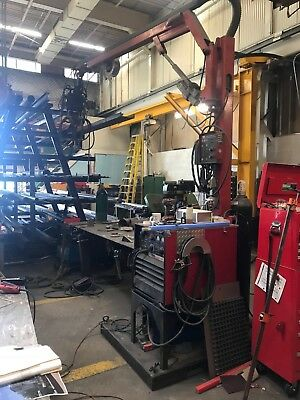 Lincoln Electric Double Header Dh-10 Hydraulic Boom Welder Machine