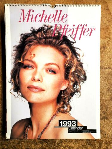 """2021=1993 Michelle Pfeifer UK Calendar-12 Large Color Prints- 12""""x16"""" (FW-93-03)"""