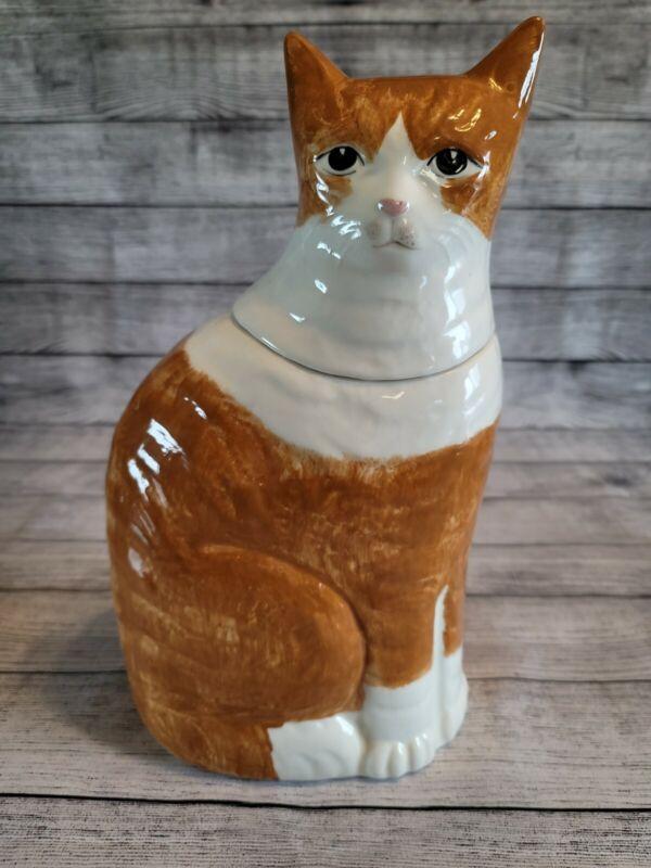 Large N.S.  GUSTIN Co. cat Cookie Jar.