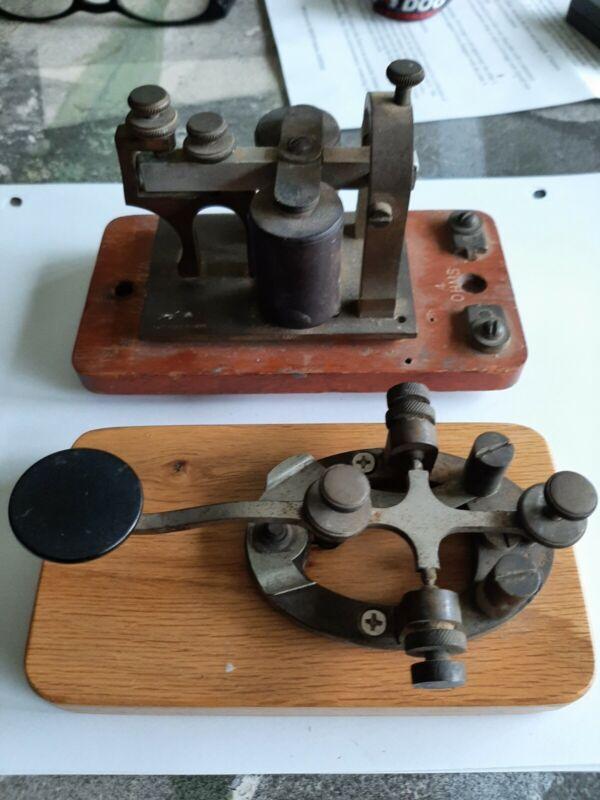 J.H. BUNNELL TELEGRAPH Key Morse Code Keyer Ham Radio Rail Road - Made New York