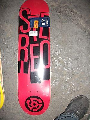 Stereo Skateboards Stacked Skateboard Deck, 8.0