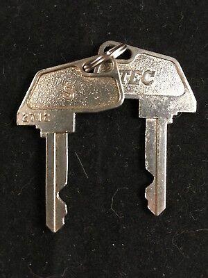 Tec Cash Register S Key 2712 Set Of 2