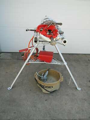 Ridgid 300 T2 Power Pipe Threader W Complete Carriage Threading Machine Used 2