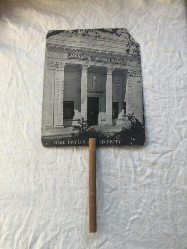 Vintage Jackson Funeral System Association Chicago Illinois Advertising Fan