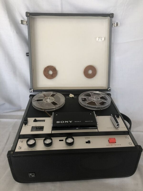 Vintage Sony SonyOmatic Reel to Reel Tapecorder TC-105A - Excellent condition