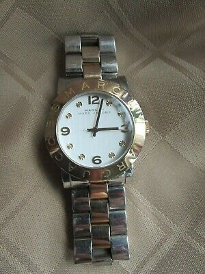 MARC BY MARC JACOBS AMY SILVER DIAL TWO TONE STAINLESS STEEL WATCH MBM 3139