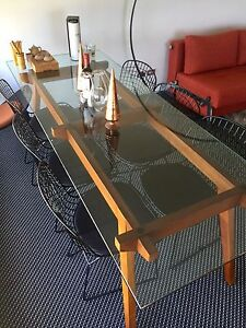 ALEJANDRO STICOTTI DINING TABLE with Harry Bertioa chairs Brisbane City Brisbane North West Preview