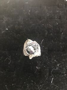 Sterling and ruby dragon ring