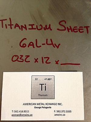 Titanium Sheet 6al-4v .020 X 12 X 36