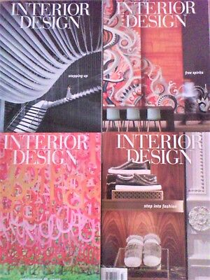 INTERIOR DESIGN MAGAZINE Lot 4 Issues Jan 2017 - Apr 2017