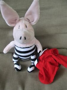 Gund Olivia Pig Doll -Red Dress /Black White Tights Ian Falconer 75100 Plush 14