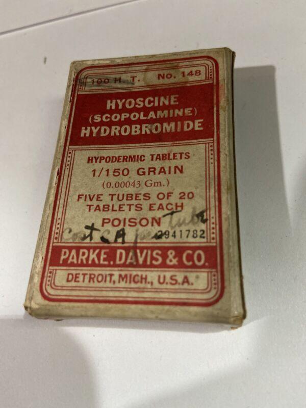 Vintage Parke, Davis Hyoscine Tablets